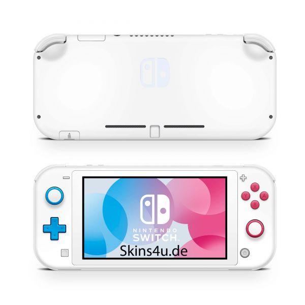 Nintendo Switch Lite Front & Back Skin Aufkleber Schutzfolie Solid state white