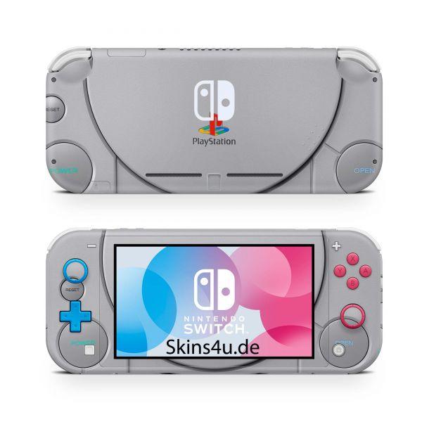 Nintendo Switch Lite Front & Back Skin Aufkleber Schutzfolie Retro PsOne