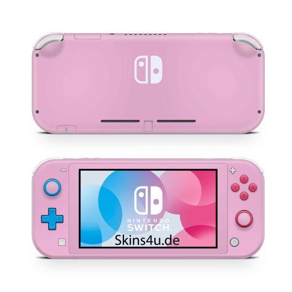 Nintendo Switch Lite Front & Back Skin Aufkleber Schutzfolie Solid state pink