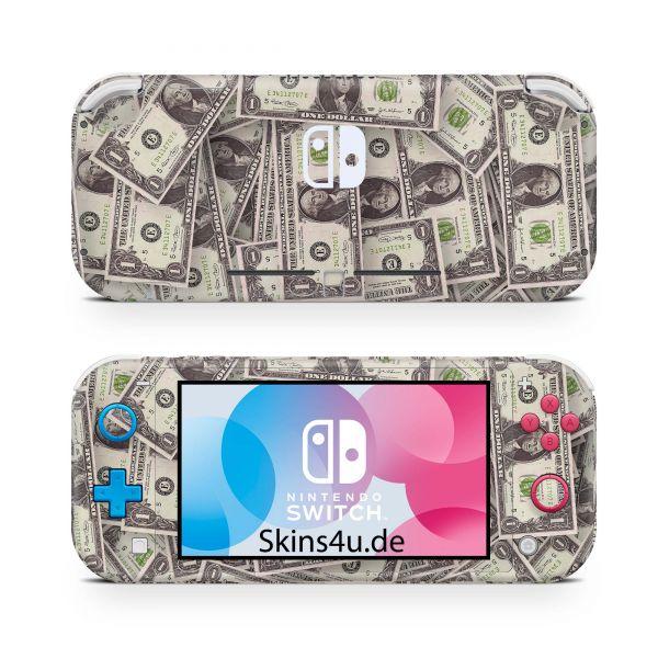 Nintendo Switch Lite Front & Back Skin Aufkleber Schutzfolie Cash