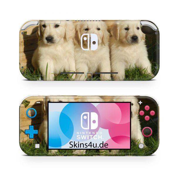 Nintendo Switch Lite Front & Back Skin Aufkleber Schutzfolie Welpen