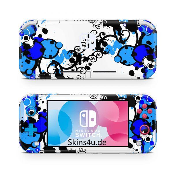Nintendo Switch Lite Front & Back Skin Aufkleber Schutzfolie Simple Blue