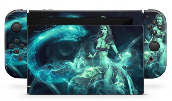 Nintendo Switch Skins Aufkleber Design Schutzfolie Set Fantasy Dragon