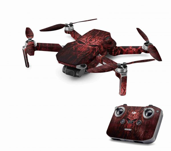 DJI Mavic Mini 2 Skin Aufkleber Wraps Skins Design Folie Red Demon
