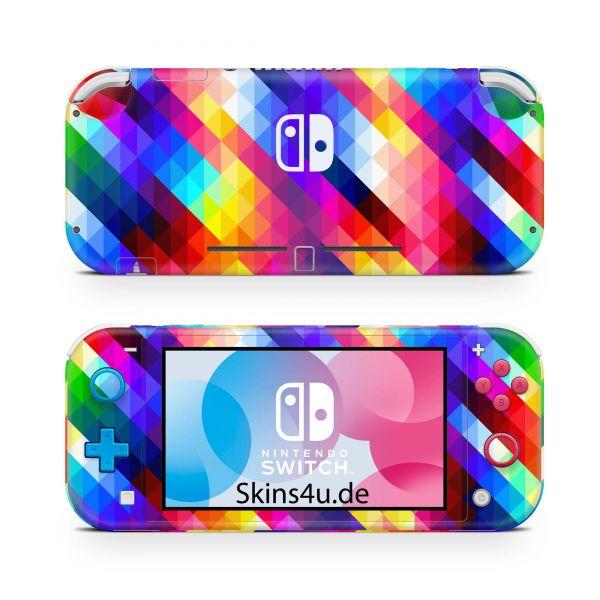 Nintendo Switch Lite Front & Back Skin Aufkleber Schutzfolie Geo