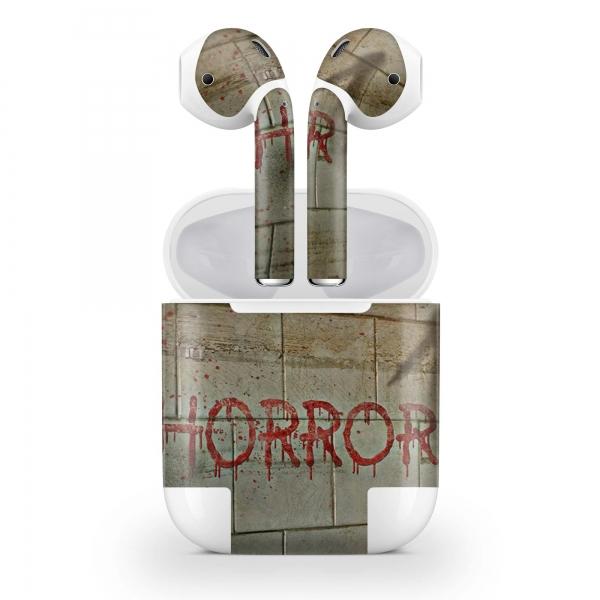 Apple AirPods Skin Aufkleber Design Vinyl Skins Schutzfolie ( 2.Generation ) Horror