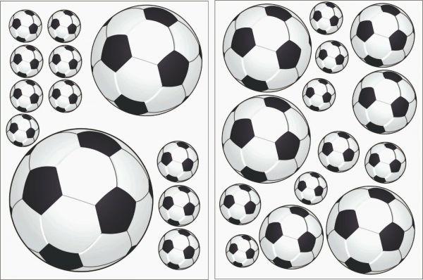 Wandtattoo Kinderzimmer Fußball 25 Fussbälle zum verkleben