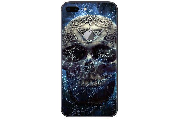 Apple iPhone 5S SE Skin Aufkleber Designfolie - lightning-skull