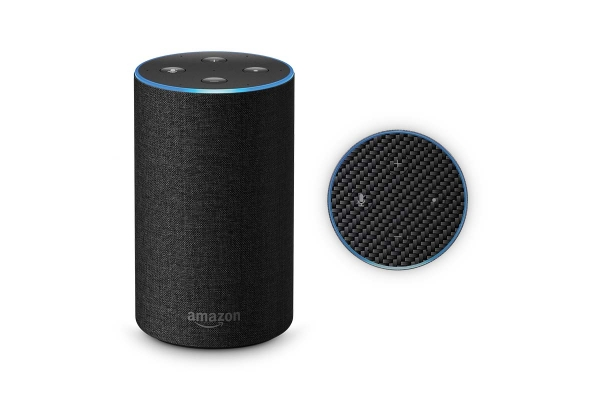 Amazon Echo Skin 2.Generation Schutzfolie Carbon