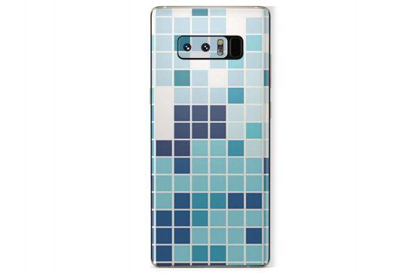 Samsung Galaxy Note 8 Skin Design Aufkleber - mosaik-blue