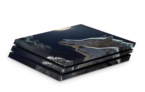 Playstation 4 Pro Skin Aufkleber PS4 Design woelfe