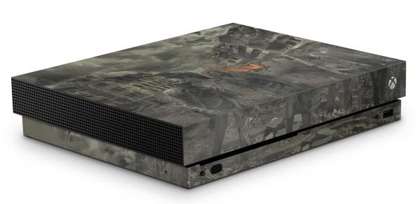 Xbox One X Schutzfolie Skin Aufkleber Design - Zombie Attack