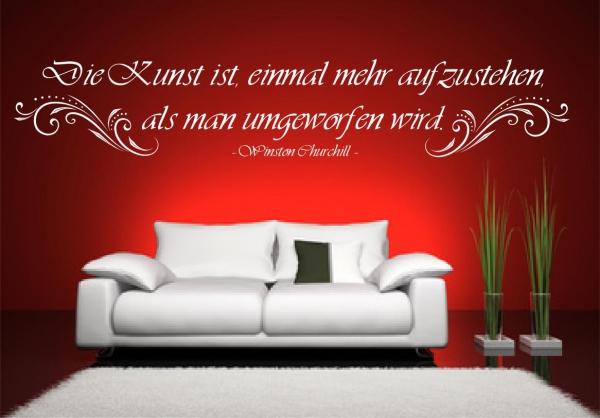 "Wandtattoo Winston Churchill ""Die Kunst ist.."" - SZ014"