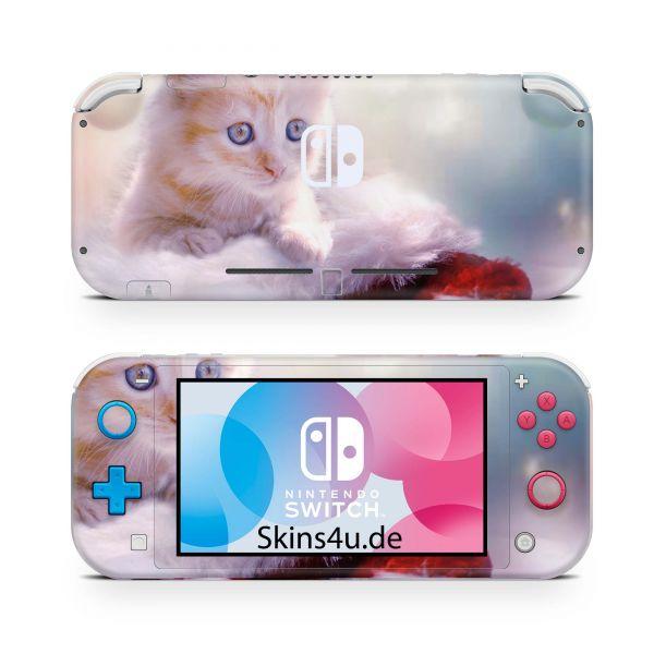 Nintendo Switch Lite Front & Back Skin Aufkleber Schutzfolie Kaetzchen