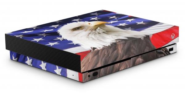 Xbox One X Schutzfolie Skin Aufkleber Design - USA Eagle