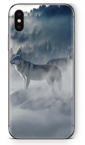 Apple iPhone XS Skin Aufkleber Design Schutzfolie Ice Wolf