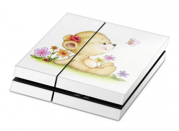 Sony Playstation 4 Aufkleber Skin PS4 Designfolie - Teddy