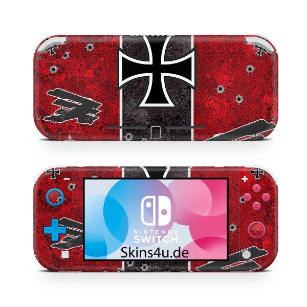 Nintendo Switch Lite Front & Back Skin Aufkleber Schutzfolie Roter Baron