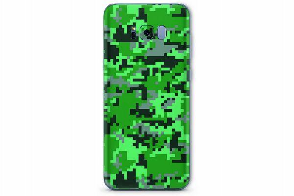 Samsung Galaxy S8 Skin Design Aufkleber - digital-green-camo
