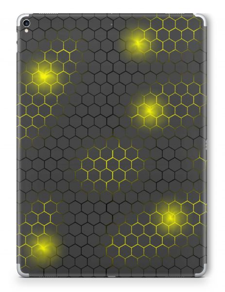 Apple iPad Air 1 Skin Aufkleber Schutzfolie Design exo small yellow