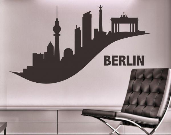 Wandtattoo Skyline Berlin Edel