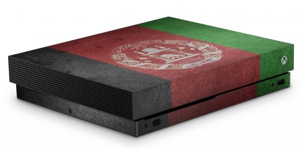 Xbox One X Schutzfolie Skin Aufkleber Design - Afghanistan
