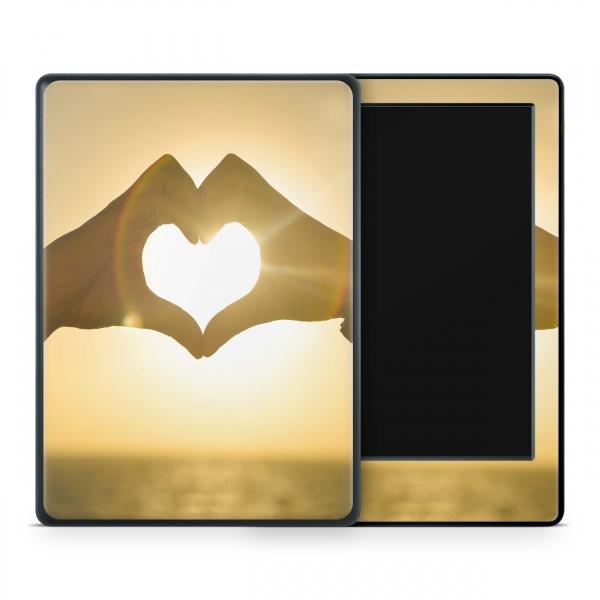 Amazon Kindle Skin Aufkleber Design Schutzfolie Heart Hands