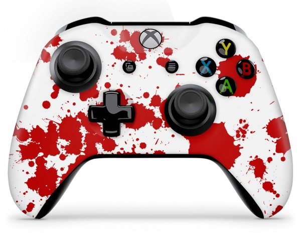 Xbox One Controller Skin Aufkleber Design Folie - Blood