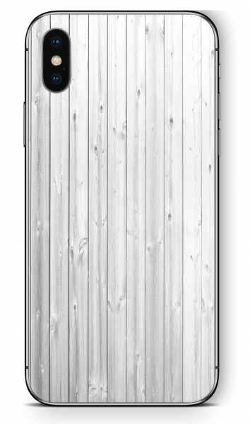 Apple iPhone XS MAX Skin Aufkleber Design Schutzfolie White Wood