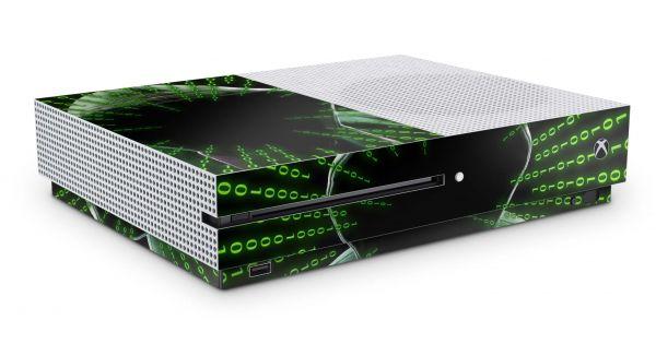 Xbox One S Skin Aufkleber Design Schutzfolie Hacker