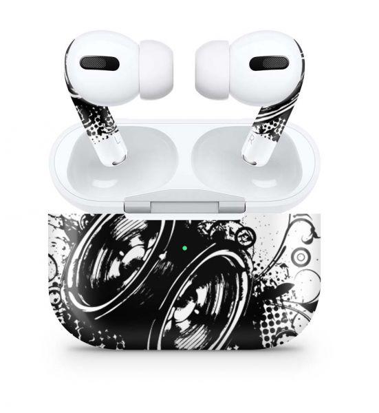 Apple AirPods Pro Skin Aufkleber Design Vinyl Skins Schutzfolie Black and White