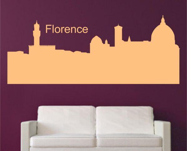 Wandtattoo Skyline Florenz
