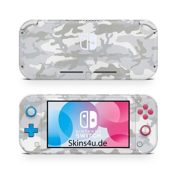Nintendo Switch Lite Front & Back Skin Aufkleber Schutzfolie White Camo