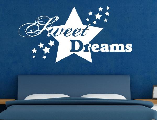 Wandtattoo Sweet Dreams mit Sternen - SZ041
