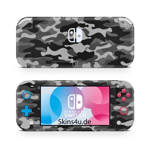 Nintendo Switch Lite Front & Back Skin Aufkleber Schutzfolie Urban Camo