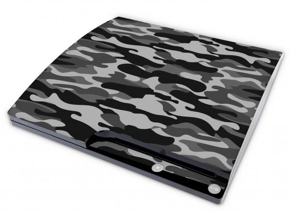Sony Playstation 3 Slim Aufkleber Skin Designfolie PS3 - Urban Camo