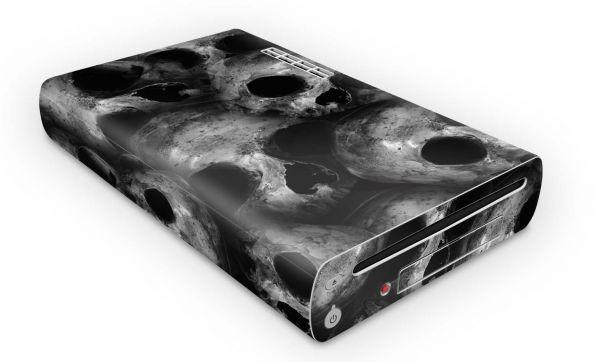 Nintendo Wii U Konsolen Skin Aufkleber Design Schutzfolie Skulls