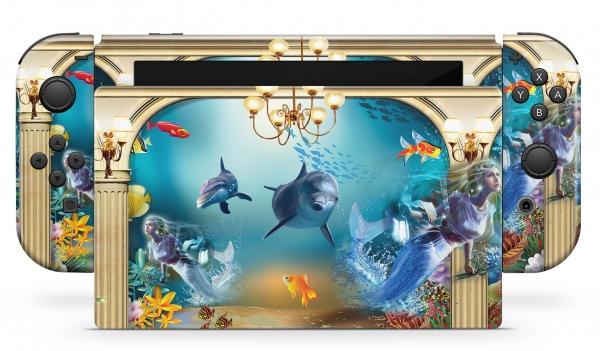 Nintendo Switch Skins Aufkleber Design Schutzfolie Set Atlantis