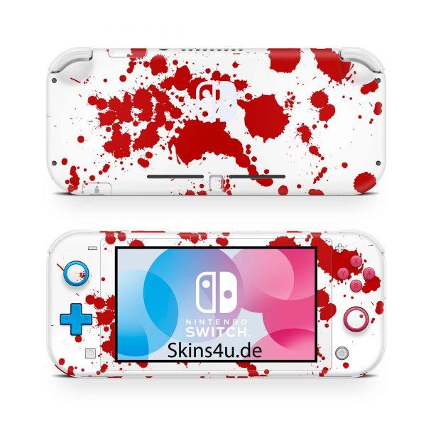 Nintendo Switch Lite Front & Back Skin Aufkleber Schutzfolie blood