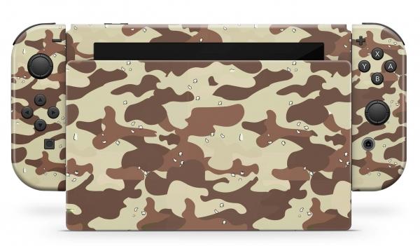 Nintendo Switch Skins Aufkleber Design Schutzfolie Set Desert Camo