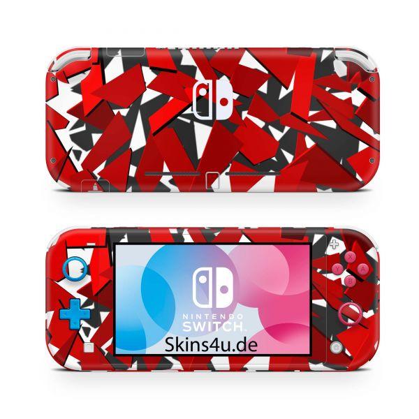 Nintendo Switch Lite Front & Back Skin Aufkleber Schutzfolie Signal red