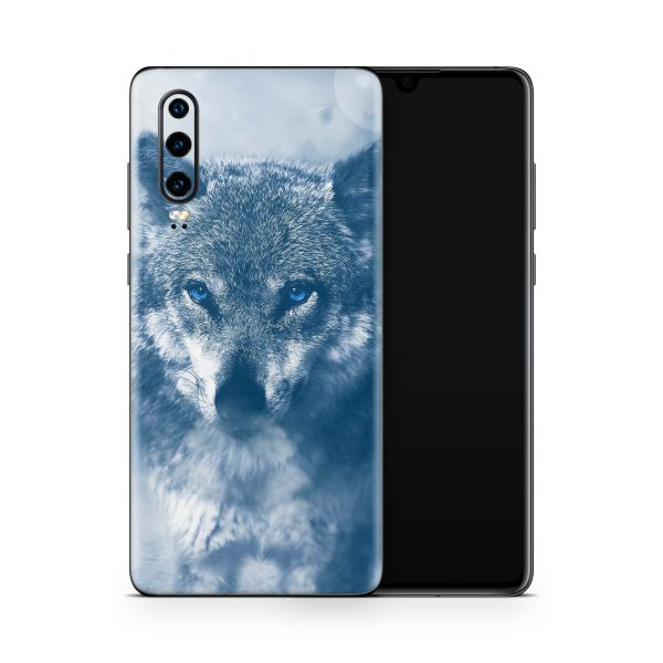 Huawei Mate 30 Pro Skin Design Handy Schutzfolie Cover Wolf blue eyes