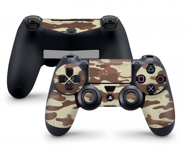 Playstation 4 PS4 Controller Aufkleber Skin - auch für Slim & Pro Desert Camo