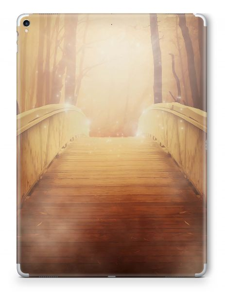 Apple iPad Mini 1 Skin Aufkleber Schutzfolie Design golden bridge