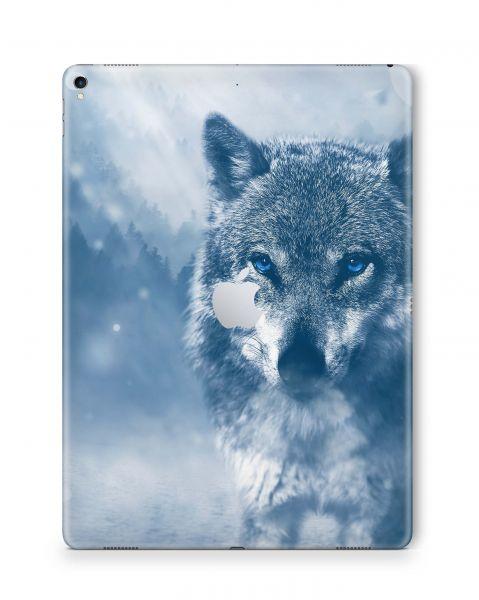 Apple iPad Pro Skin 9.7 2016-2019 Aufkleber Schutzfolie Wolf blue eyes