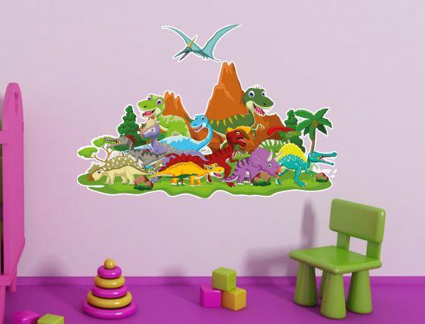 Wandtattoo Kinderzimmer Dinosaurier Dino Welt