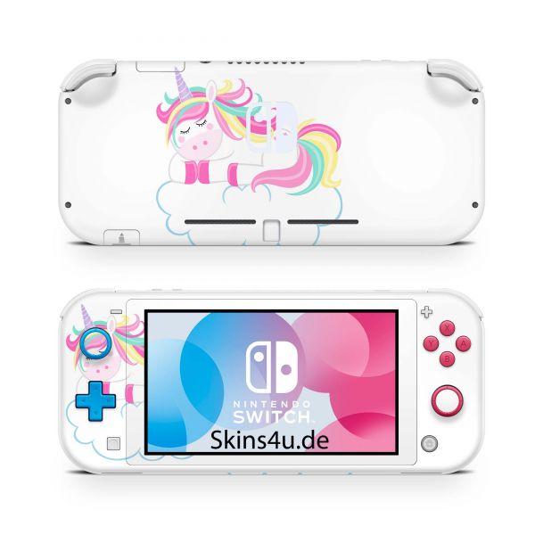 Nintendo Switch Lite Front & Back Skin Aufkleber Schutzfolie Einhorn 3b