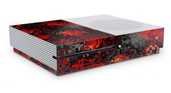 Xbox One S All Digital Skin Aufkleber Design Schutzfolie Red Plasma