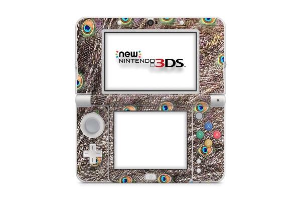 Nintendo NEW 3DS Skin Aufkleber Schutzfolie Pfau