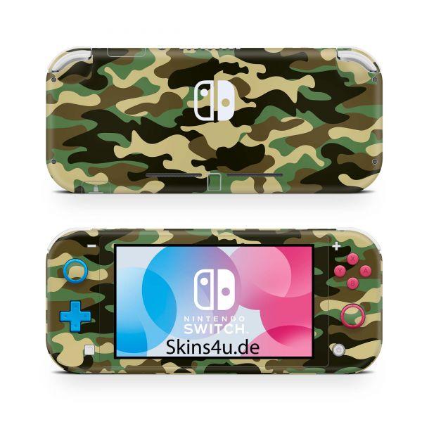 Nintendo Switch Lite Front & Back Skin Aufkleber Schutzfolie Wood Camo